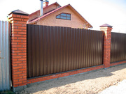 Забор из профлиста под ключ (частный мастер)